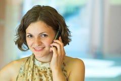 Entretien de téléphone d'affaires Image libre de droits