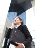 Entretien de téléphone d'affaires Photographie stock