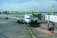 Entretien des avions Photos stock