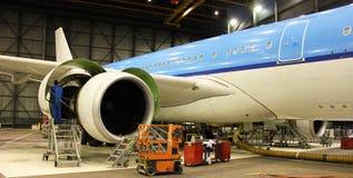 Entretien des avions Image stock