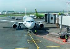 Entretien des avions Images stock