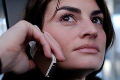Entretien mobile d'affaires Image stock