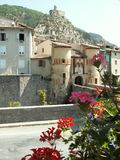 Entrevaux. A old village in provence Stock Photo