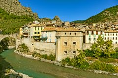 Entrevaux, França Fotografia de Stock