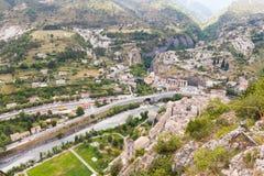 Entrevaux söder av Frankrike royaltyfri fotografi