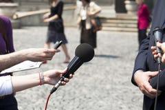 Entrevista Imágenes de archivo libres de regalías