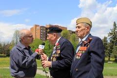Entrevista con los veteranos Fotografía de archivo