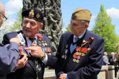 Entrevista con los veteranos Fotografía de archivo libre de regalías