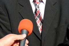 Entrevista da tevê Imagens de Stock