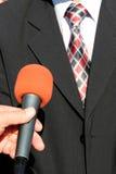 Entrevista da tevê Foto de Stock Royalty Free