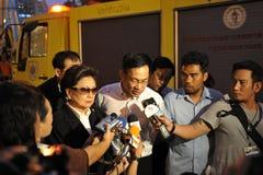Entrevista de los media de noticias Foto de archivo