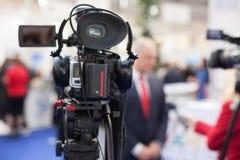 Entrevista de los medios Foto de archivo
