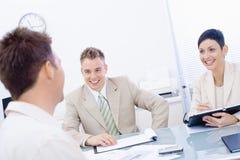 Entrevista de trabalho Imagens de Stock