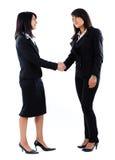 A entrevista de trabalho, agita as mãos Imagens de Stock Royalty Free