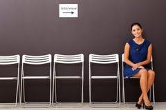 Entrevista de trabalho da mulher de negócios Imagem de Stock Royalty Free