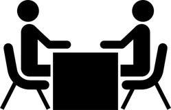 Entrevista del asunto/del trabajo stock de ilustración
