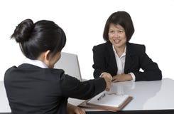 Entrevista do negócio Foto de Stock