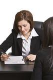 Entrevista do negócio Imagem de Stock