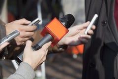 Entrevista dos media Foto de Stock Royalty Free