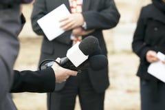 Entrevista dos media Imagem de Stock Royalty Free
