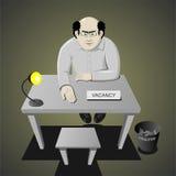 Entrevista para um trabalho ilustração stock