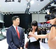 Entrevistas del ejecutivo de Acura Foto de archivo libre de regalías