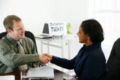 Entrevue Photo libre de droits
