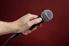 Entrevue avec le microphone Image libre de droits