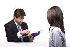 Entrevue d'emploi Photo libre de droits