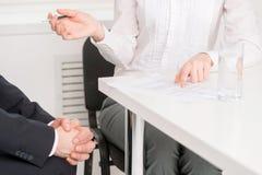 Entrevue d'emploi. image libre de droits