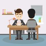 Entrevue d'emploi d'homme d'affaires illustration de vecteur