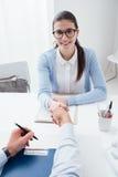 Entrevue d'emploi réussie Images libres de droits