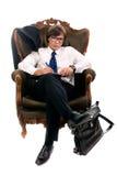 Entrevue dans le fauteuil Images libres de droits