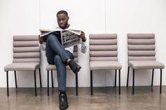 Entrevue de attente Job Application Concept d'homme images libres de droits