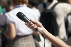 Entrevue de media Image libre de droits