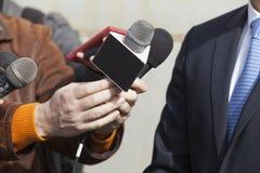 Entrevue de media Image stock