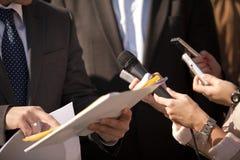 Entrevue de medias Image libre de droits