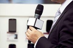 Entrevue de medias Photos libres de droits