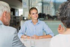 Entrevue de recrutement du travail image stock