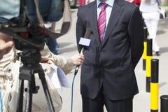 Entrevue de TV Images stock