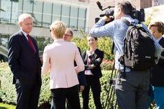entrevue Nils Daniel Carl Bildt Image libre de droits