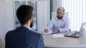 Entrevue pour le travail banque de vidéos
