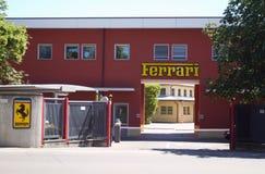 Entrez dans l'usine Ferrari images libres de droits