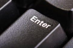 Entrez dans le bouton image stock