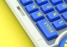 Entrez dans - le bouton de clavier Image libre de droits