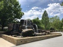 Entri ai giardini botanici innumerevoli a Oklahoma City immagini stock libere da diritti