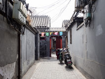 Entrnce to a traditional hutong residence Royalty Free Stock Photos