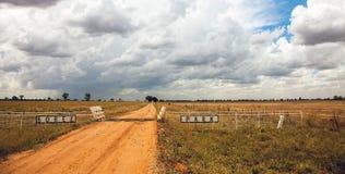 Entroterra del parco di mimosa pendula a Dubbo Australia immagini stock libere da diritti