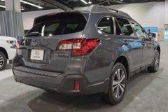 Entroterra di Subaru su esposizione fotografia stock