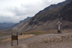 Aconcagua National Park. Entry of Aconcagua National Park Stock Photo